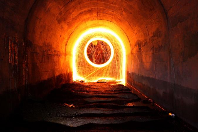 Narrow gauge railway tunnel
