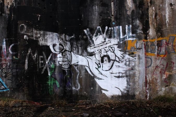 Graffiti, Llanberis Bomb Store