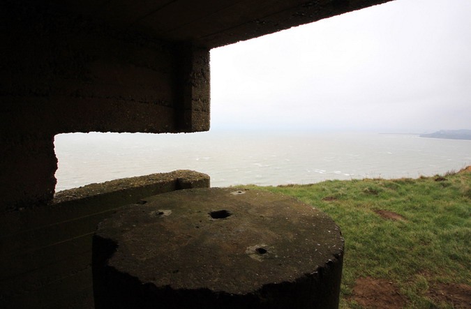 Looking out from the concrete structure