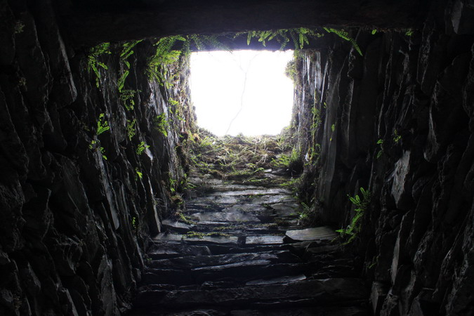 Chimney at the adit portal