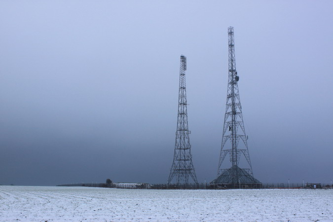 Transmitter towers, now in use for BBC FM transmission