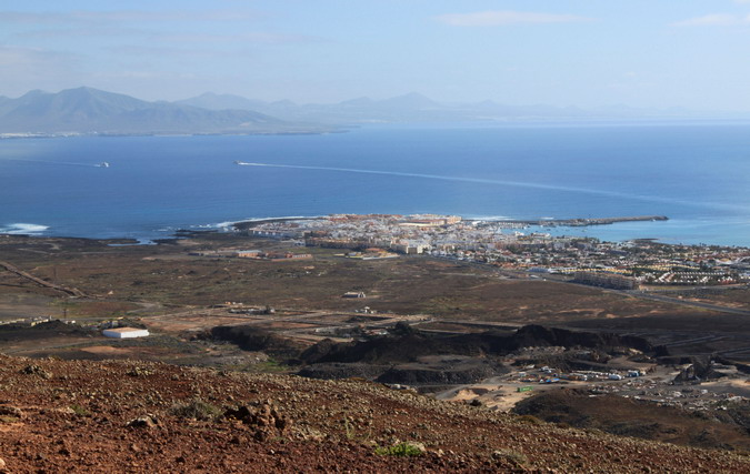 Corralejo and Lanzarote from Bayuyo