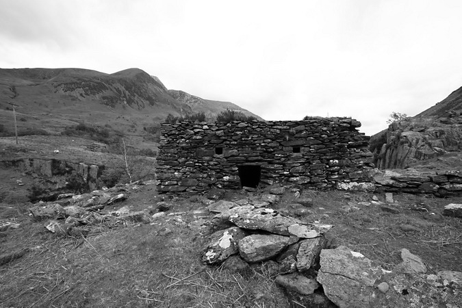 Pillbox, looking towards Foel Goch