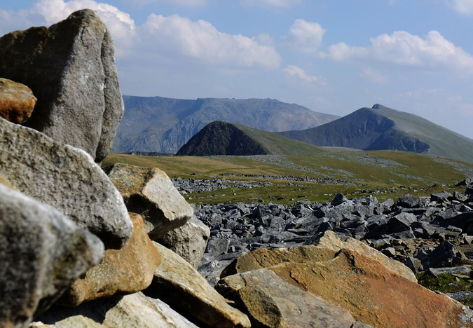 Foel Goch (left) and Y Garn (right) with Glyder Fawr in the background