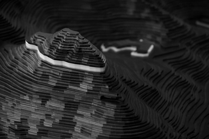 Tryfan - interactive relief model of surrounding area