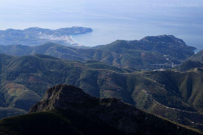 Towards La Herradura and Punta de la Mona