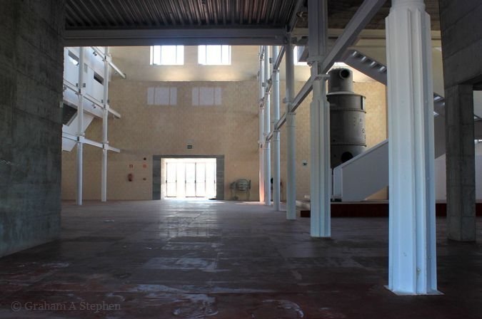 Interior of the renovated main mill building
