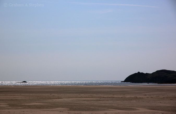 Malltraeth Sands, looking towards Caseg Malltraeth (left)