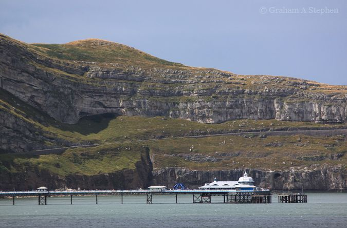 View of Llandudno Pier and the Great Orme from Bodafon Farm Park