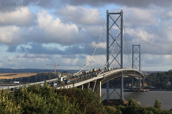 Forth Road Bridge from the south