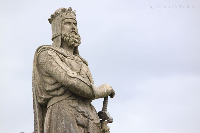 Status of Robert the Bruce () on the castle esplanade.