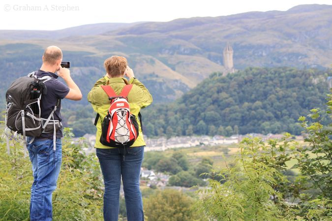 Snapping the Wallace Monument
