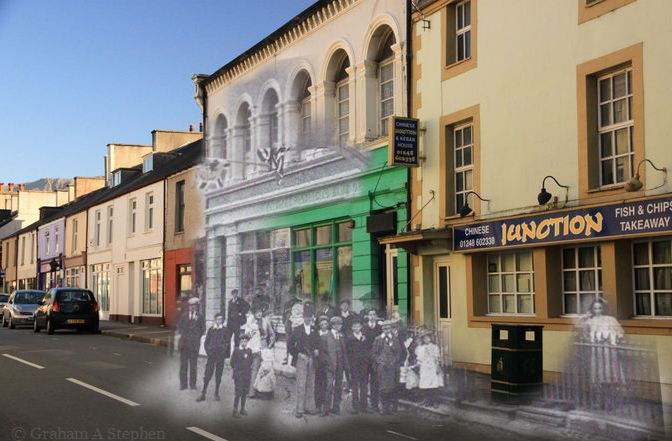 High Street, Bethesda Now and Then