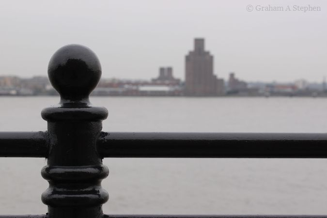 Looking over the River Mersey towards the Queensway Tunnel Ventilation Tower, Birkenhead