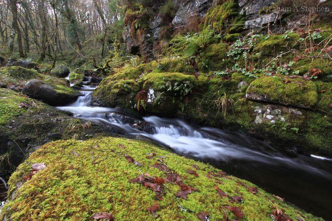 Afon Prysor, above Rhaeadr Du waterfall