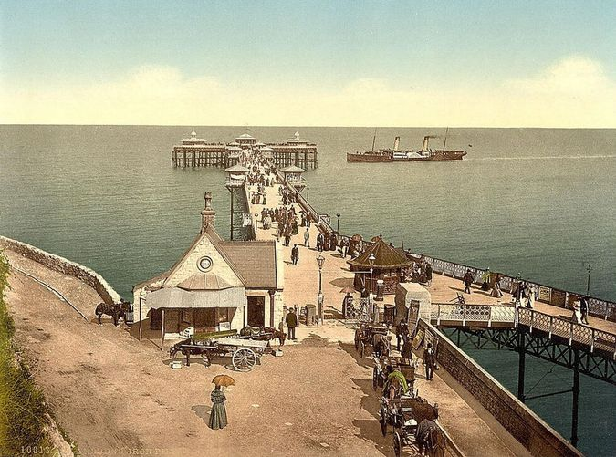 Llandudno Pier (Library of Congress collection of Views of landscape and architecture in Wales c. 1890-1900)