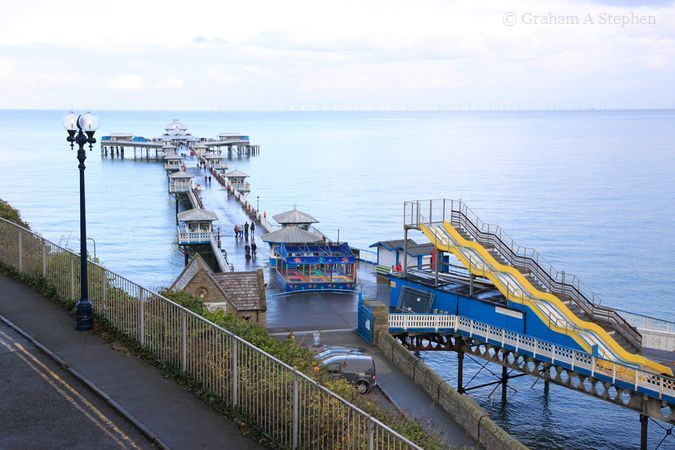 The 286m-long pier is the longest in Wales.