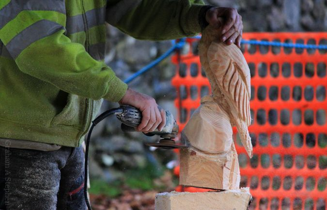 Wood Carving, Betws-y-Coed Christmas Fair