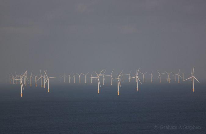 Gwynt y Mor Wind Farm from Welsh Mountain Zoo, Colwyn Bay