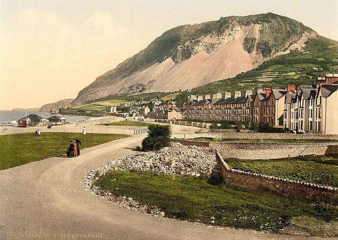 'Llanfairfechan Parade' - Library of Congress collection of Views of landscape and architecture in Wales c. 1890-1900, photochrom prints (a lithographic process producing colorised images from black and white photographic negatives).