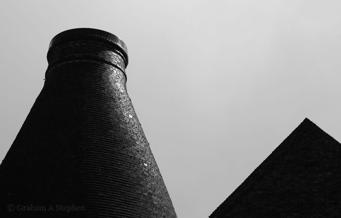 Bottle Kiln.  Around 20 tons of coal was required for a firing and entire process of loading the kiln, firing the clay, and then leaving it to cool took around a week.