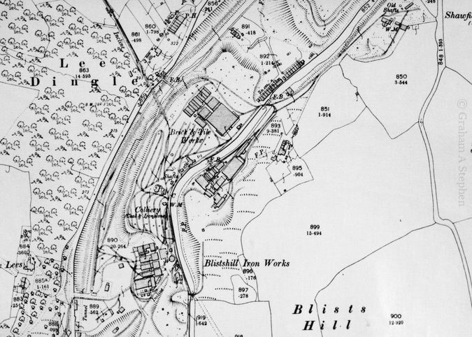 Map of the industrial complex that is now the site of Blists Hill Victorian Town open-air museum