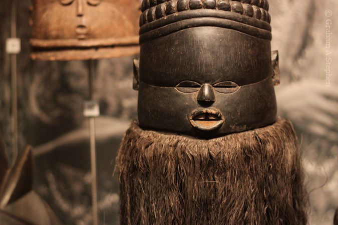 Helmet mask sowo-wui, Sierra Leone, c1909