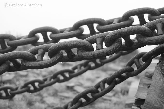 Blondin tower anchor chains, Dinorwic Quarry
