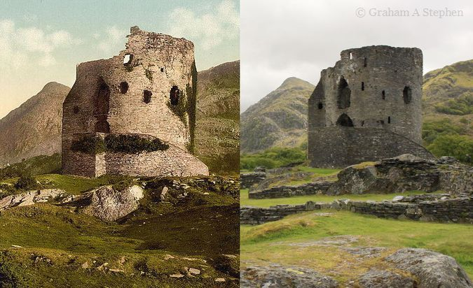 Dolbadarn Castle - Now and Then