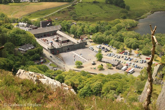 Gilfach Ddu from above Vivian Quarry