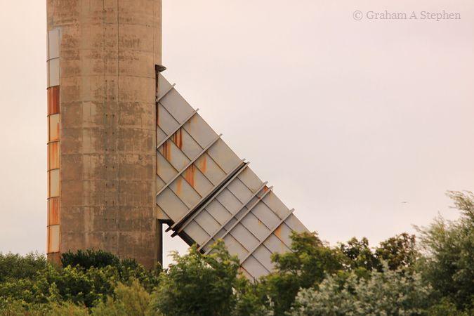 Chimney of the former Anglesey Aluminium Metal Ltd aluminium smelter