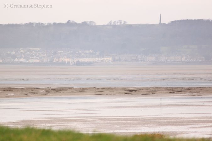 Beaumaris and the Bulkeley Monument from Morfa Aber