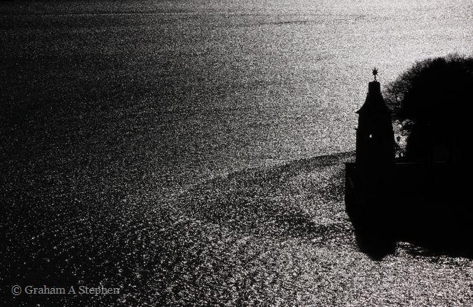 Pointillism.  Observatory Tower, Afon Dwyryd estuary