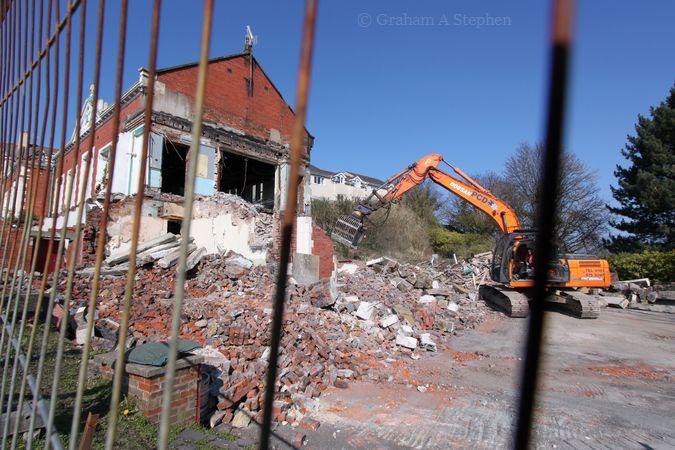 Demolition in progress, 17 March 2016