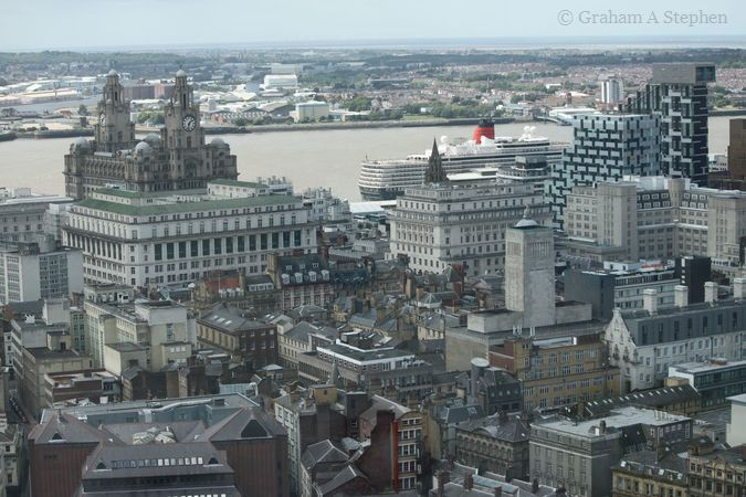 Royal Liver Building and MS Queen Elizabeth