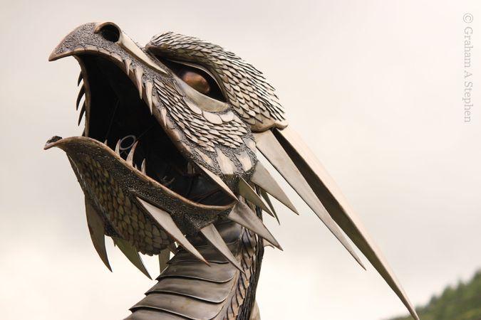 British Ironworks' steel dragon