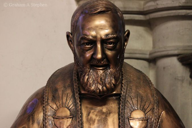 Statue of St Pio, St David's Church