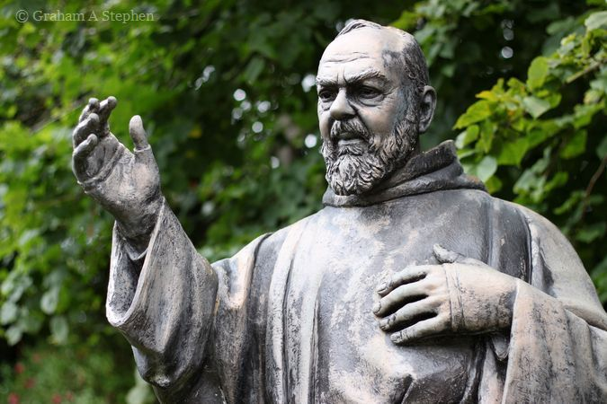 Statue of St Pio,  St Pio's Shrine