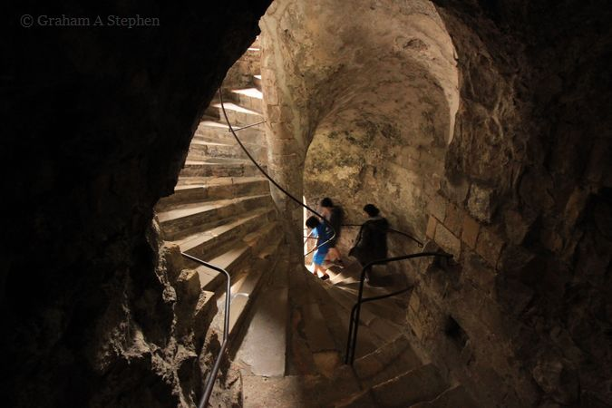 Inside the Keep, or Great Tower, built by Henry II c 1181-88