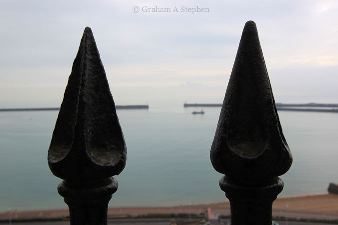 Looking out to Dover Harbour